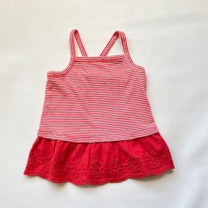 EUC Gap Red / White Tank Top 3T. Like new